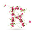 Floral letter R for your design
