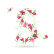 Floral letter S for your design