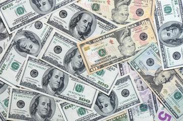 Dollar bank notes money background