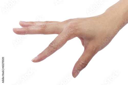 close up of female human hand flicking for composites