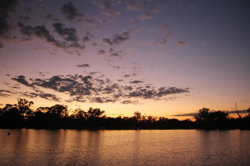 Murray River in a morning glory