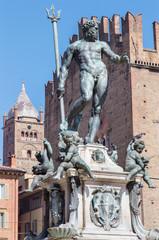 Bologna - Neptune fountain on Piazza Maggiore square