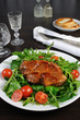 Grilled steak salad with bacon