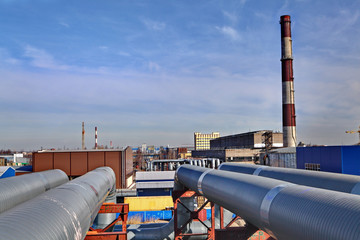 Aboveground pipeline leading to Thermal power station