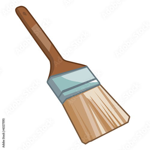 Paint brush  isolated illustration