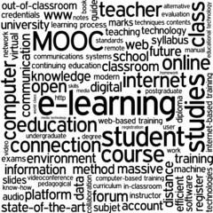 """E-LEARNING"" Tag Cloud (education online training course mooc)"