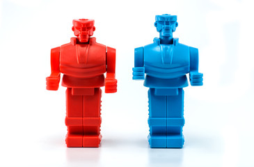 two robot standing
