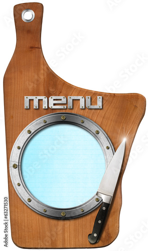 Cutting Board - Menu Template