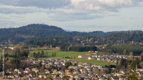 Happy Valley Oregon Suburban Housing and Homes Time Lapse
