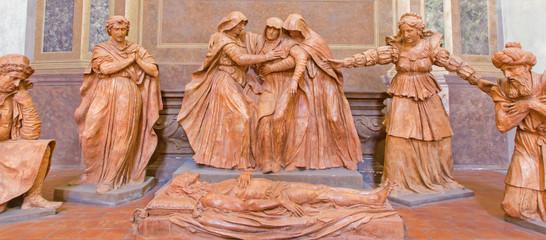Bologna - Death of Christ sculptural group - Saint Peters church