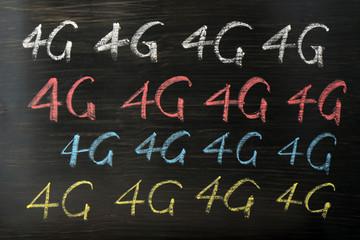 4G written with chalk