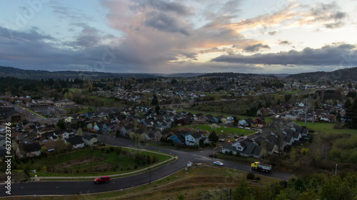 Happy Valley Oregon Suburb Homes at Sunset Time Lapse