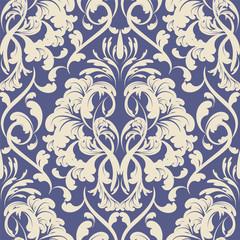 vector damask wallpaper. design elements. flower backdrop