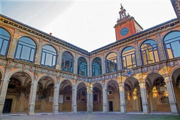 Bologna - atrium of Archiginnasio