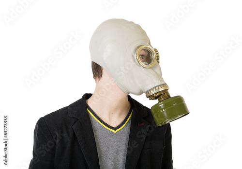 Guy in a gas mask