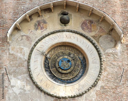 ancient mechanical clock in the Tower of the platter in the beau