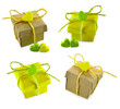 Decorated gifts set isolated