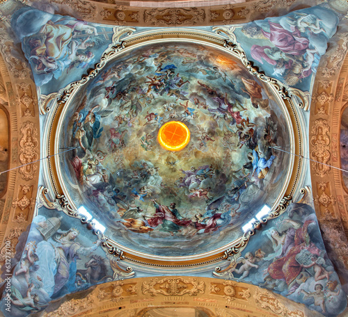 Bologna - Fresco in cupola of Saint Paul church