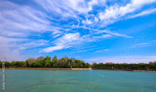 Adriatic Sea and the coast of Italy near Venice, nature landscap