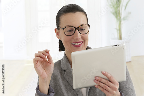 Portrait of successfull businesswoman smiling