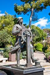 Statue of Prince Albert 1st in Saint Martin Park in Monte Carlo.
