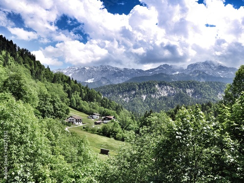 canvas print picture alps panorama