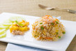 Chinese Cuisine - Fried Rice with Vegetables and Meat