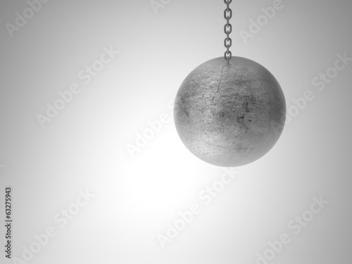 swinging metal ball