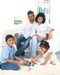 happy indian family enjoying quality time indoor