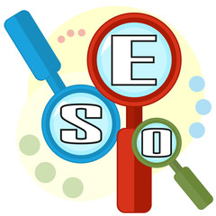 Colorful concept of search optimization
