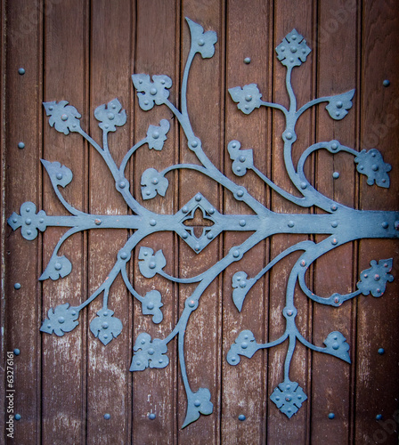 Ornate Church Door Hinge