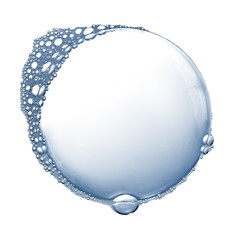 Soap foam bubbles isolated