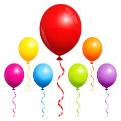 7 Balloons Color