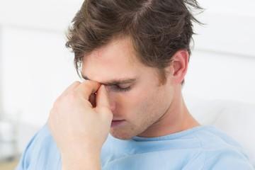 Patient suffering from headache