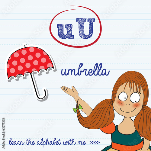 alphabet worksheet of the letter u