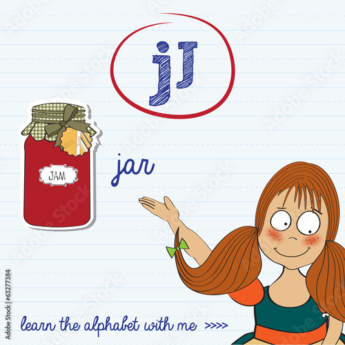 alphabet worksheet of the letter j