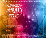 Fototapety Summer Party Flyer for Music Club events