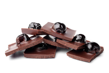 Chocolate pieces with cherry