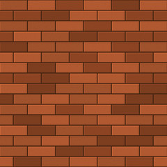 Seamless Pattern of Red Brick. Vector