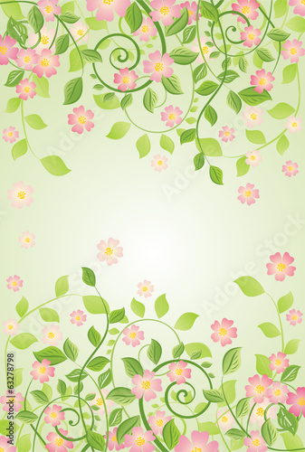 Spring banner with apple-tree blossom