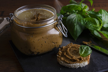 liver pate in a jar