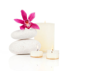 Spa decoration on a white background with clipping path
