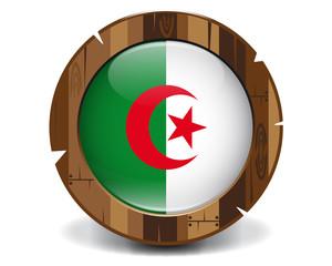 Algeria wood button