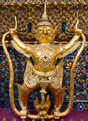 Thailand. The Grand Palace. Temple of the Emerald Buddha. Gold o