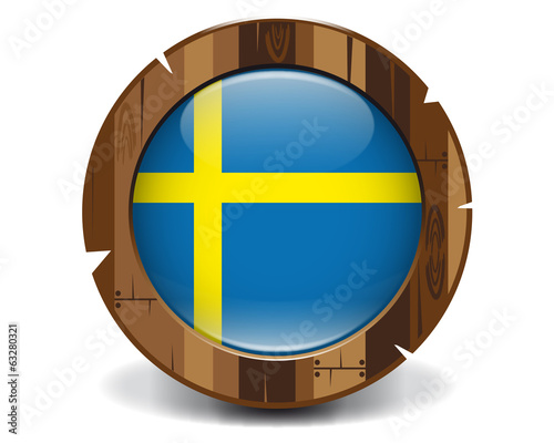 Sweden wood button