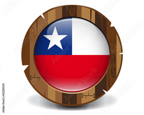 Chile wood button