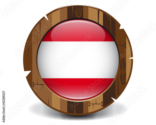 Austria wood button