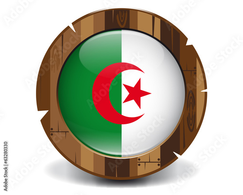 Algeria wood button