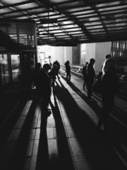 Commuters waiting for the train