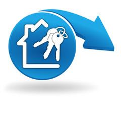 maison à vendre sur bouton bleu